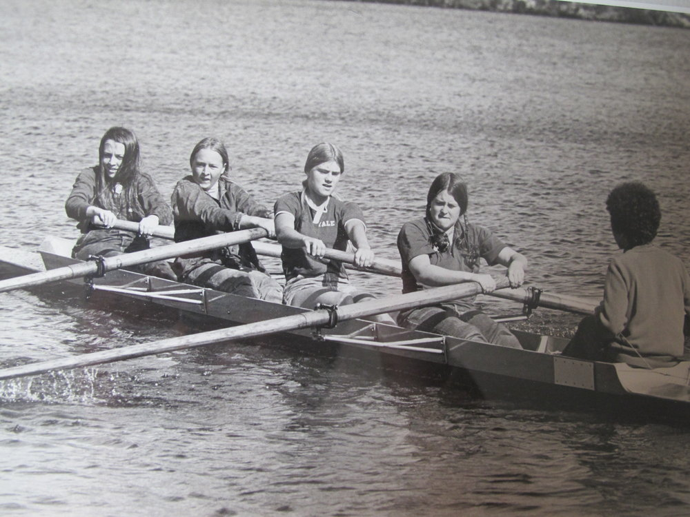 Wellesley intercollegiate crew team, 1972. Author, second from left.