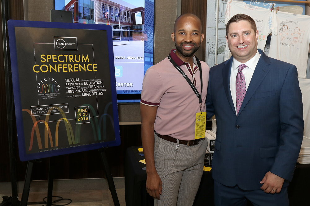 Me with Joe Storch: Associate Counsel and Chair of the Student Affairs Practice Group. Without the invitation from Joe, I would not have been able to share my story to more than 600 attendees. Photo: Joe Putrock