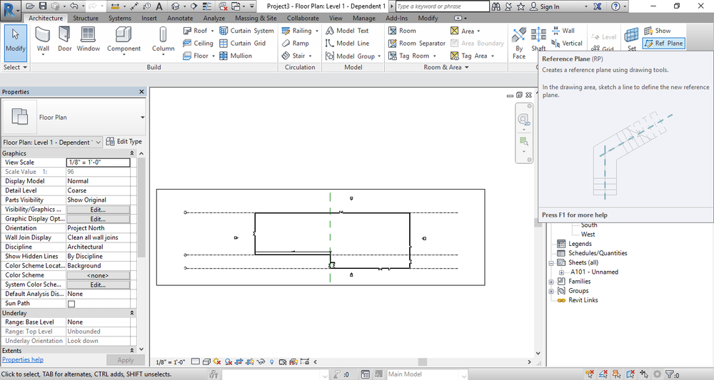 Set reference plane if your plan does not have structural column guides.