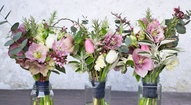 Mid March wedding bouquets