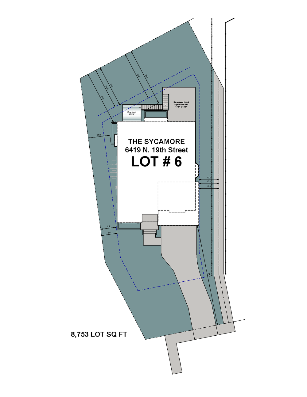 Lot 6 Site Plan-6419 N 19th Street-The Sycamore Model.png