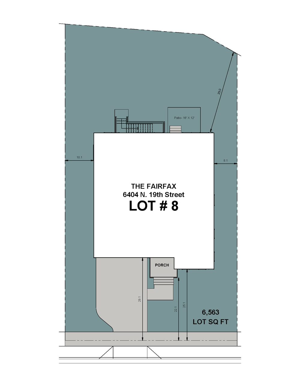 Lot 8 Site Plan-6404 N 19th Street-The Fairfax Model.png