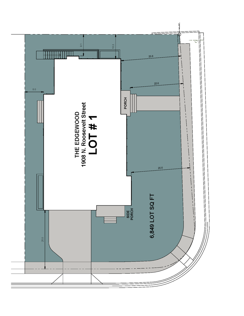 Lot 1 Site Plan-1908 N Roosevelt Street-The Edgewood Model.png