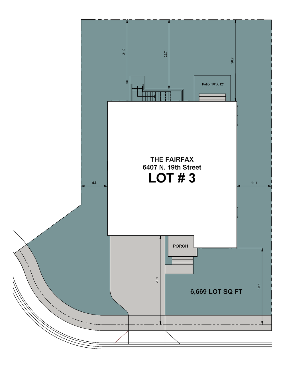 Lot 3 Site Plan-6407 N 19th Street-The Fairfax Model.png