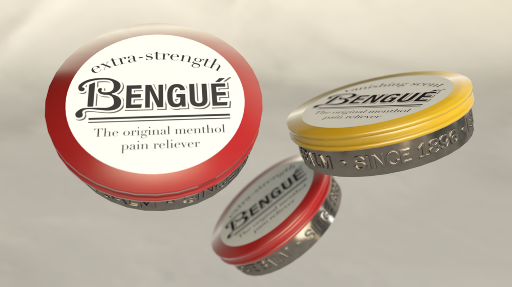 A semi-solid travel tin for on-the-go pain relief