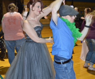 Carrie & Dennis dancing at the Spring Formal