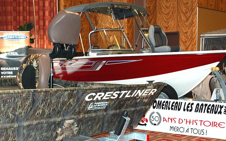 Des embarcations de plaisance, et de pêche sont à découvrir du 24 au 26 août, au 6e   Salon National Chasse Pêche Plein Air Rimouski.