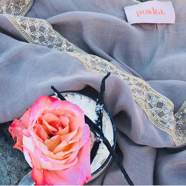 Shine and glimmer in Zaideen Abaya while having an all natural anti-stress vanilla bean latte @sohas.herbs ✨💖✨ now 10% off all #poska_resortwear new collection! . . . #breeze #beach #sun #resortwear #poolside #travelessentials #travelwear #getaway #vacationoutfit ##beachstyle #beachdays #vacationblogger #femmetravel #summerchaser #fashiondaily #newcollection2019
