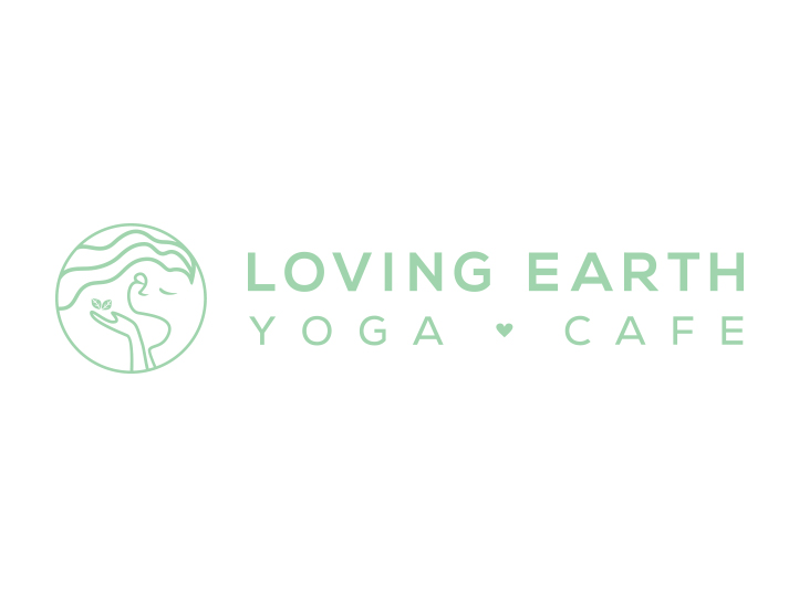 Loving Earth Yoga Cafe Horizontal Logo