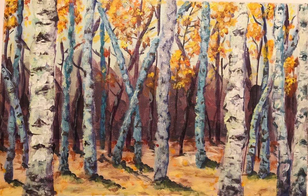Birch Forest Autumn