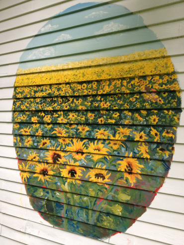Sunflower mural