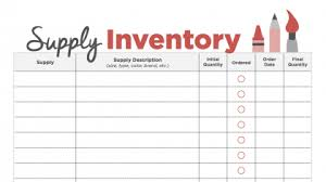 Supply Ordering - Use this as a template for all the supplies you need to order, and keep those costs under budget!