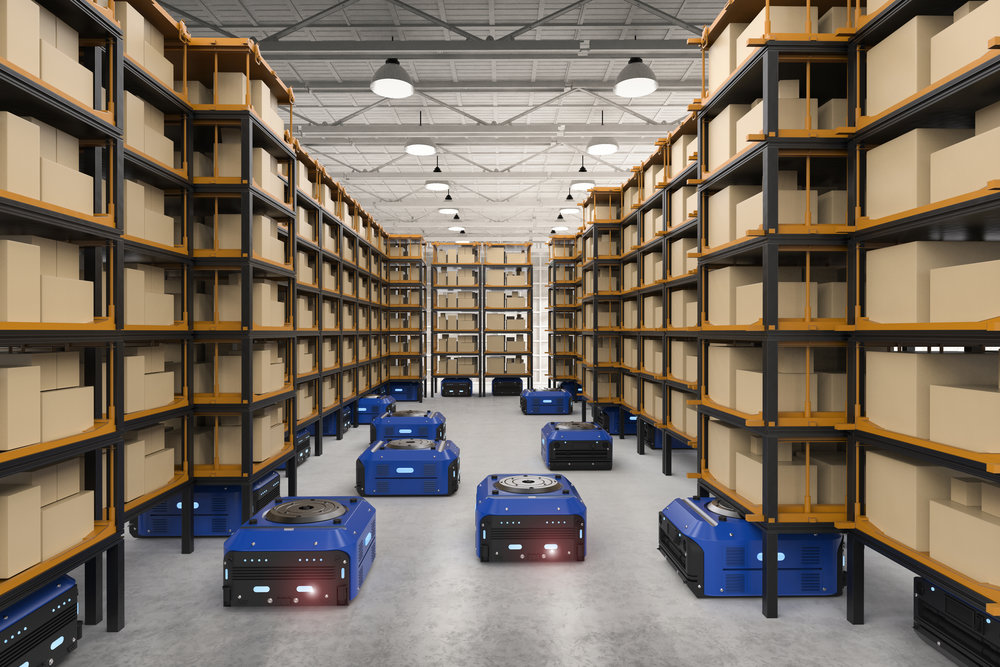 warehouse using robots for fulfillment