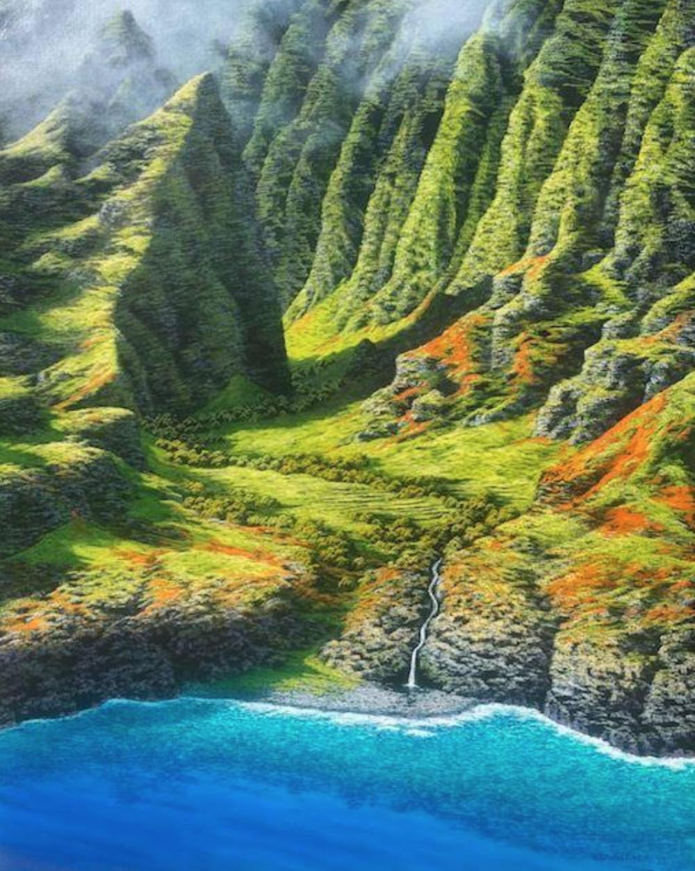 Nualolo Valley, Kauai by Harry Wishard