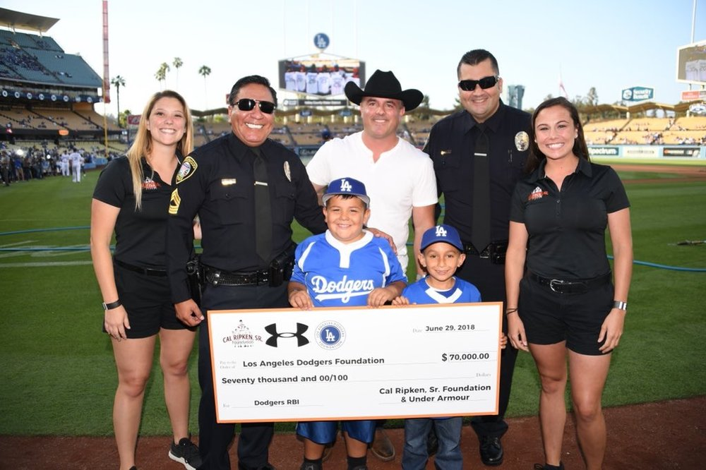 $70,000!!! - Donation from the Cal Ripken Sr Foundation to the Los Angeles Dodger Foundation!