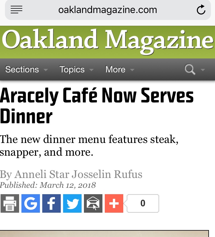 - http://www.oaklandmagazine.com/Aracely-Caf-Now-Serves-Dinner/