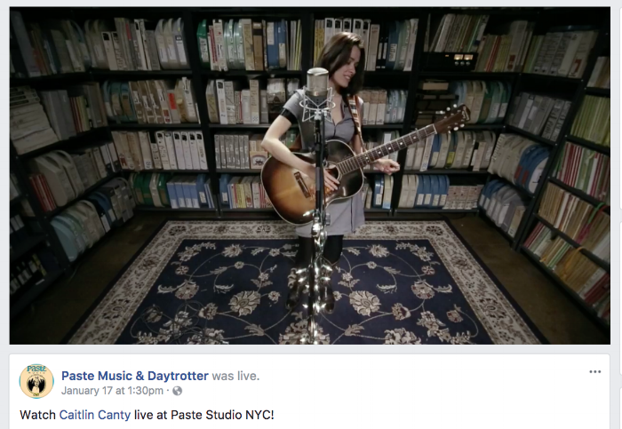 Watch Caitlin's live stream at Paste HERE.