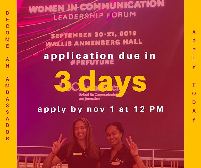 3 DAYS LEFT to apply to be an Annenberg Ambassador! Remember apps are due at NOON THIS THURSDAY. Ask us any questions you have about applying on our IG story today!