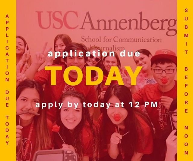 Last reminder- APPLY APPLY APPLY! Apps are due today at NOON! Make sure you hit that submit button 👊 #ASCJ