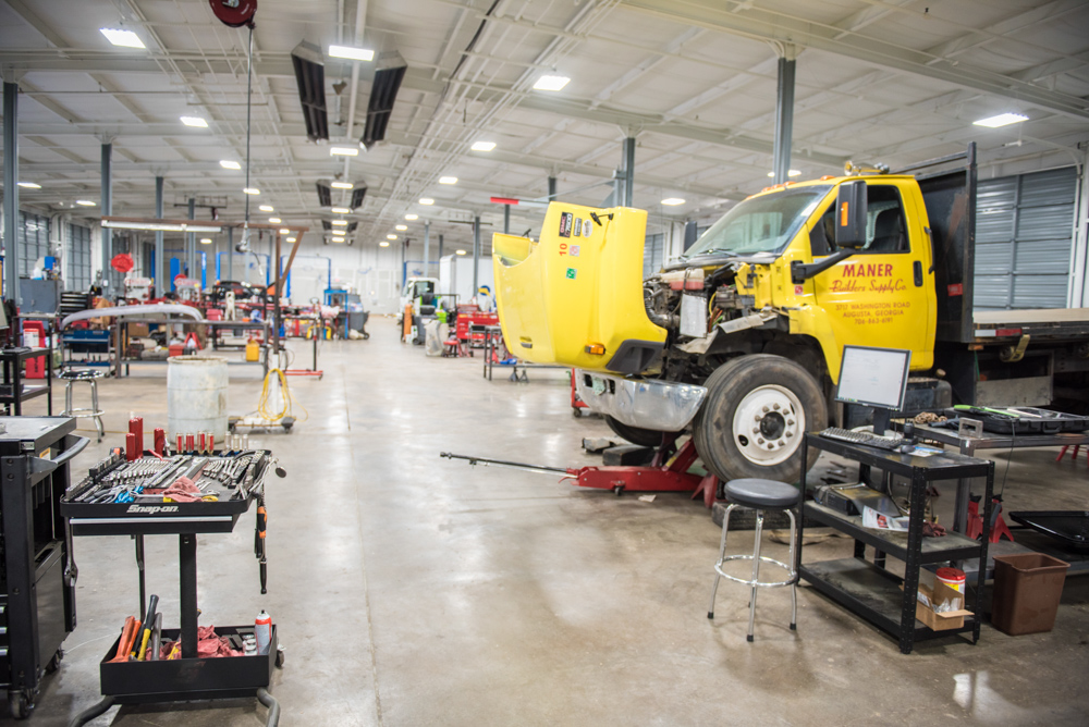 newly renovated 24-bay service facility - Fully equipped, clean, professional.