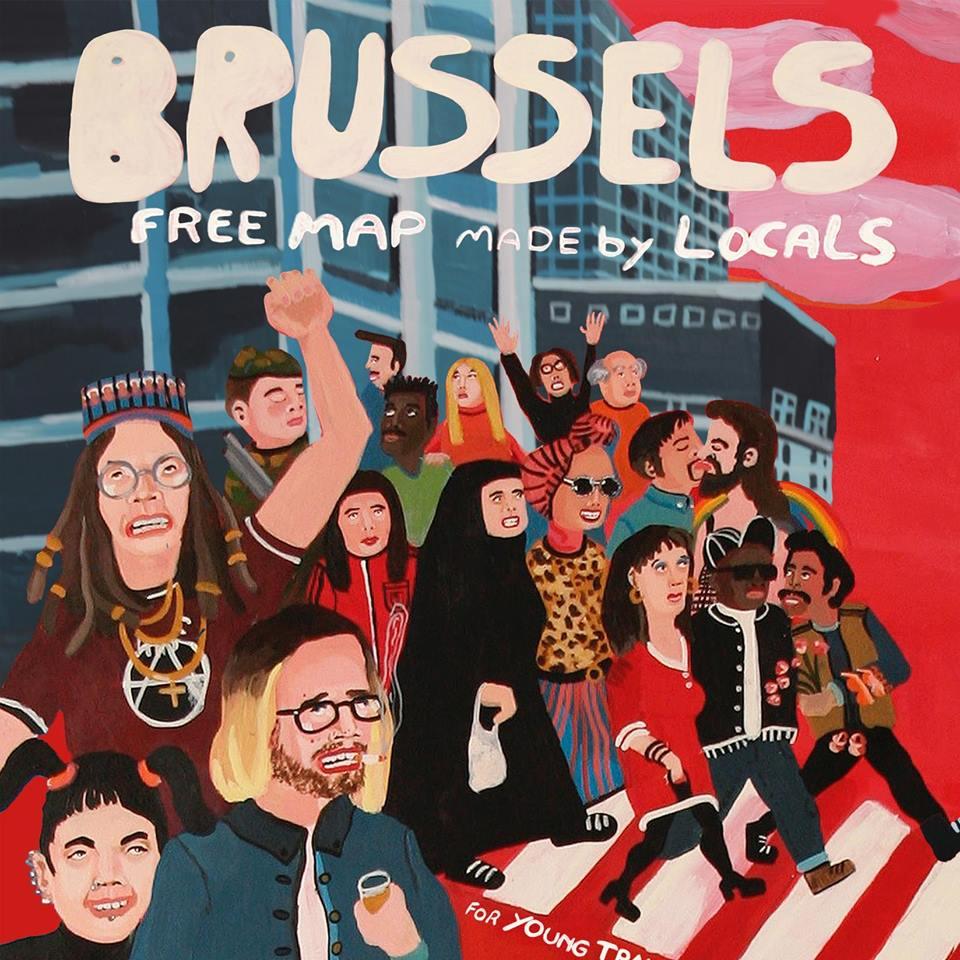 Mappa di Bruxelles realizzata dal network USE-IT (2018)
