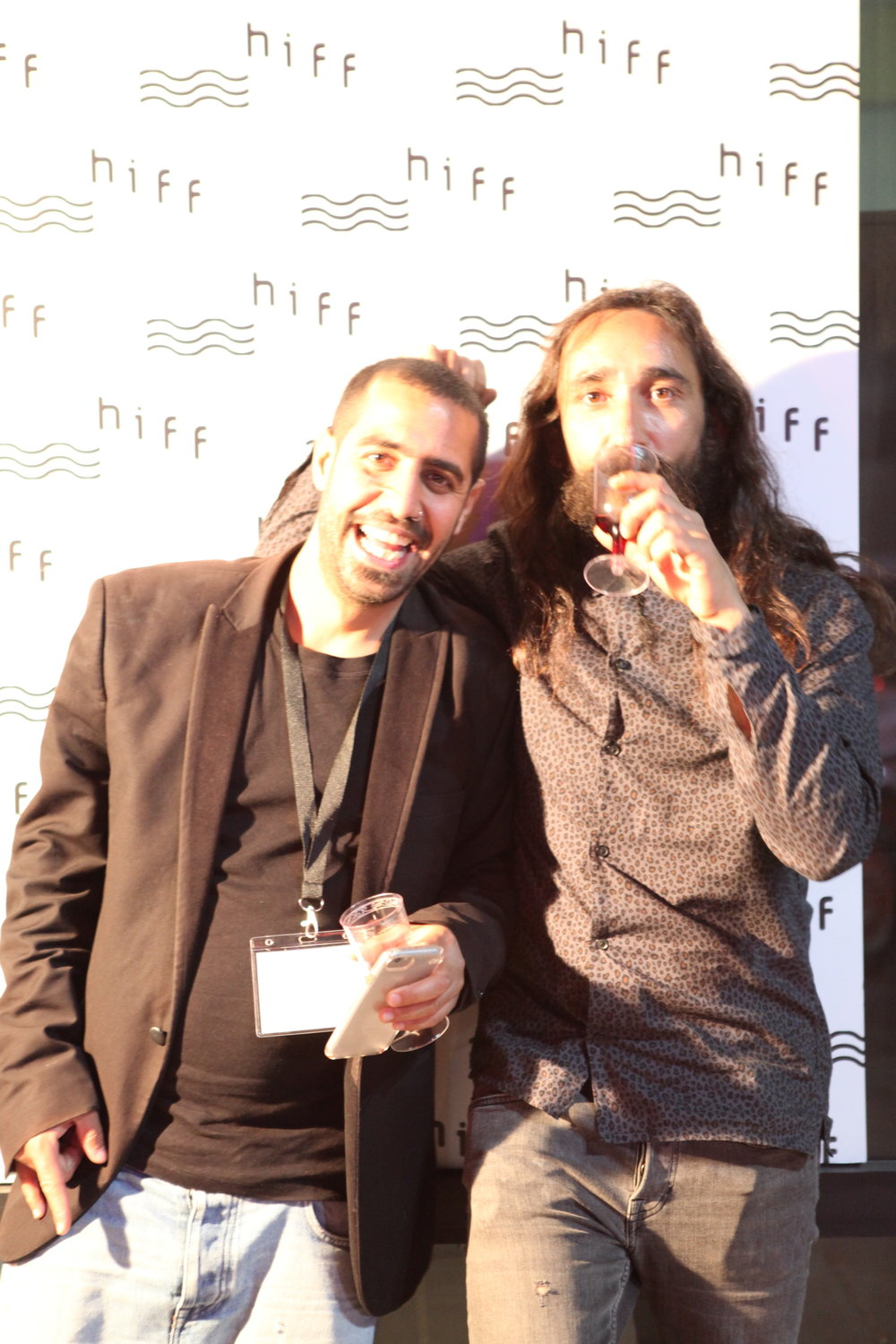 Kamil Silbak and Ayed Fadel Haifa independent Film festival.JPG
