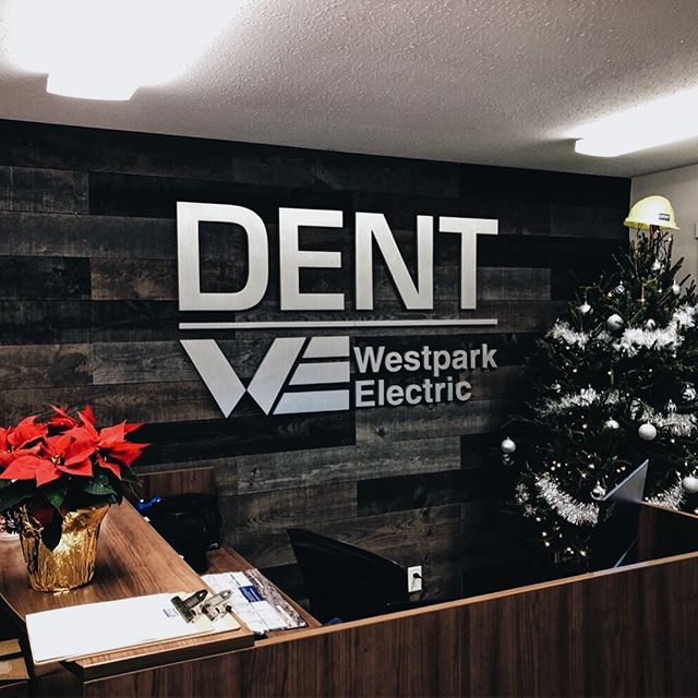 Wall Mounted logo for Dent | Westpark Electric