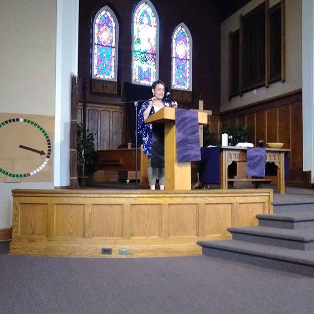 Rev. Kelly Johnston at Grace Covenant Church Chicago IL . . . . #fourmore #fourmorewomeninthepulpit #covchurch #womenpreachers