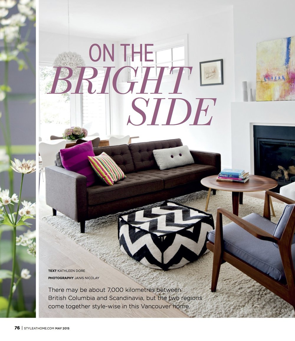 Style at Home Magazine. 2015. deb chaney Feature painting 'birds on a wire'