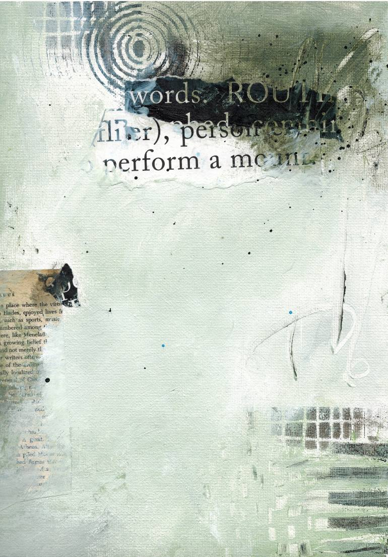 The Delight of Words & Paint ii of iii $150