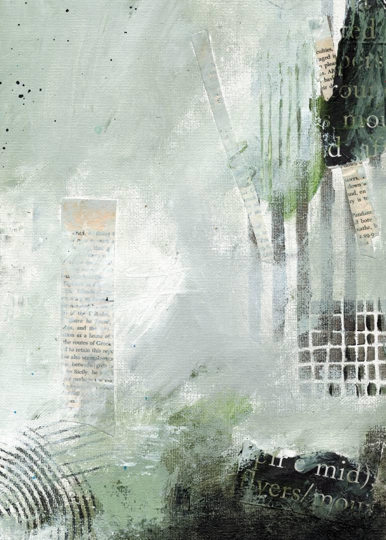 The Delight of Words & Paint iii of iii $150