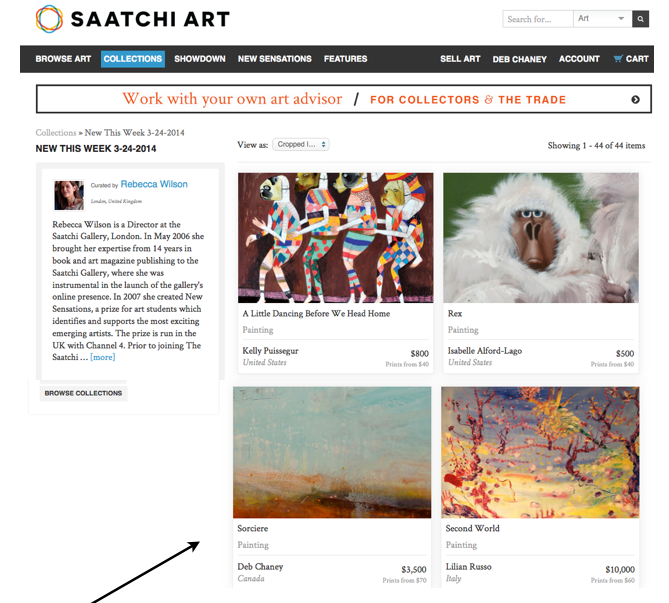 Featured Artist on Saatchi Online