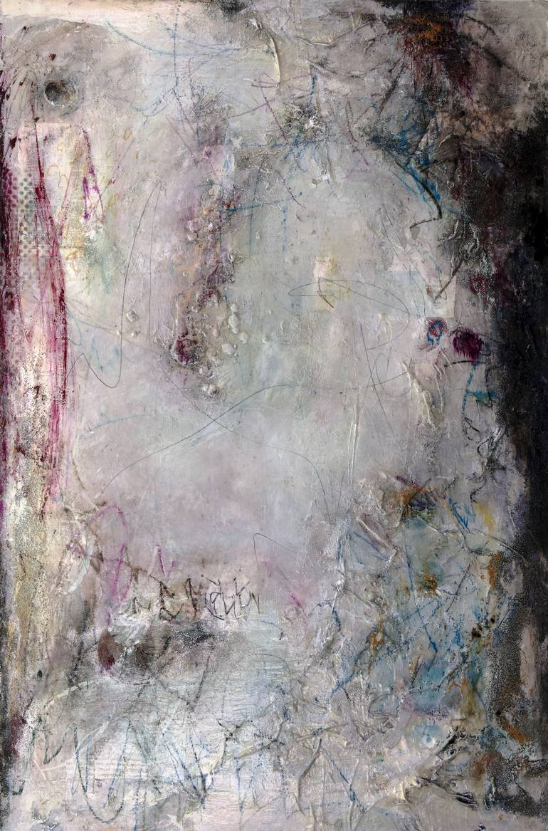 "'Listen to the Child' 60"" x 40"" x 1.5"". Mixed Media on Canvas Painting (c) All Rights Reserved Deb Chaney"