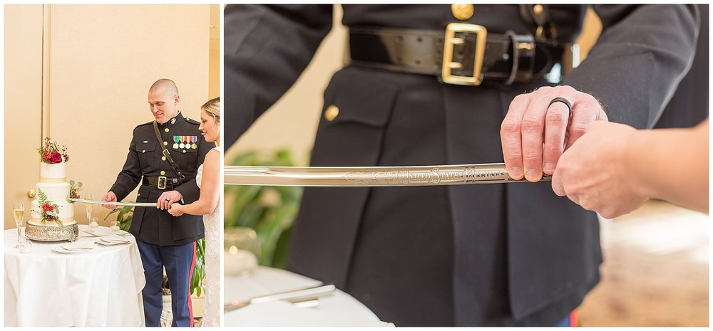 Attn. all military couples: Please don't miss the opportunity to cut your cake with the sword. Just don't. Thanks. ;P