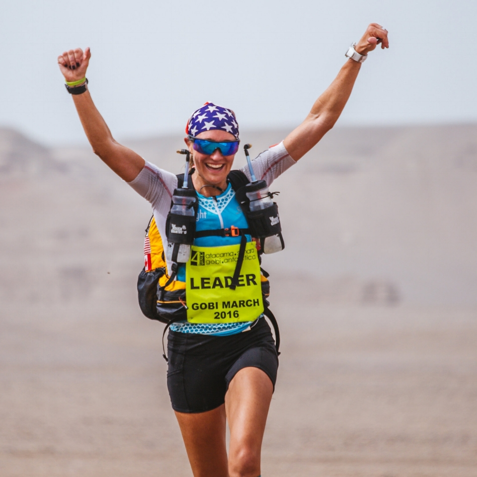 "Jax Mariash, Canada and USA   Elite ultrarunner Jax was the first woman in the world to complete the 4Deserts Series Grand Slam Plus, was crowned the 2016 4Deserts Female World Champion, was 6th female at the 2018 Marathon des Sables, was the winner of the 2018 Grand to Grand, and the list goes on and on!  Jax uses her platform to inspire the masses to get out and explore, and to encourage women to get out there and take part in more ultras and achieve the seemingly impossible. Her nickname is ""Wonder Woman""…which certainly fits!"