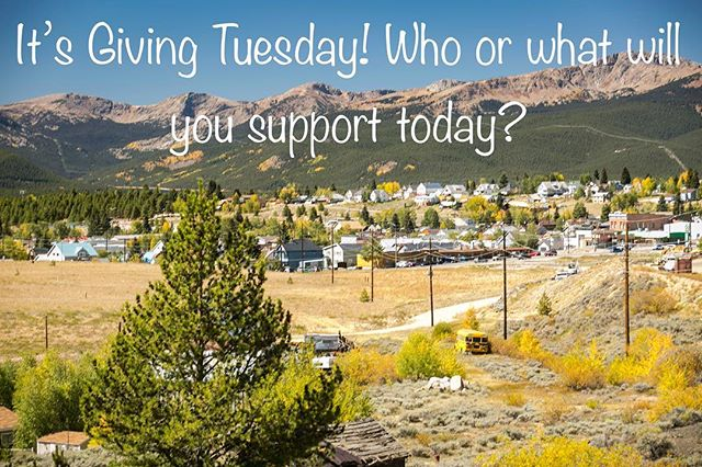 It's Giving Tuesday! Make a contribution to whomever or whatever is important to you. We don't all need to support the same things, we just all need to support something! Let's help make the world a better place!! 📸@run_n_shoot .  #givingtuesday #pickacauseanycause #legendaryraces #cloudcitymultistage #ultrarunning #colorado #ultra #leadville