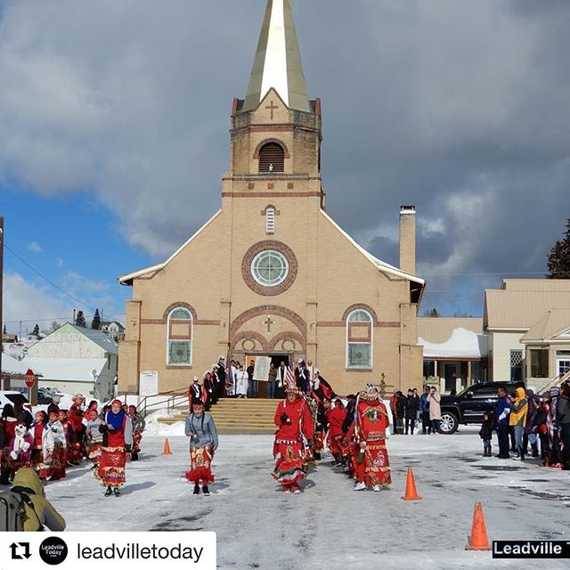 Leadville is@cool in so many ways.  #Repost @leadvilletoday ・・・ Members from Holy Family Parish celebrate the Feast Day of #ourladyofguadalupe in @leadvilletoday with a procession, dancing and music. #leadville #leadvilletoday #leadvillenews #leadvilleevents #olog #catholic #historicchurches