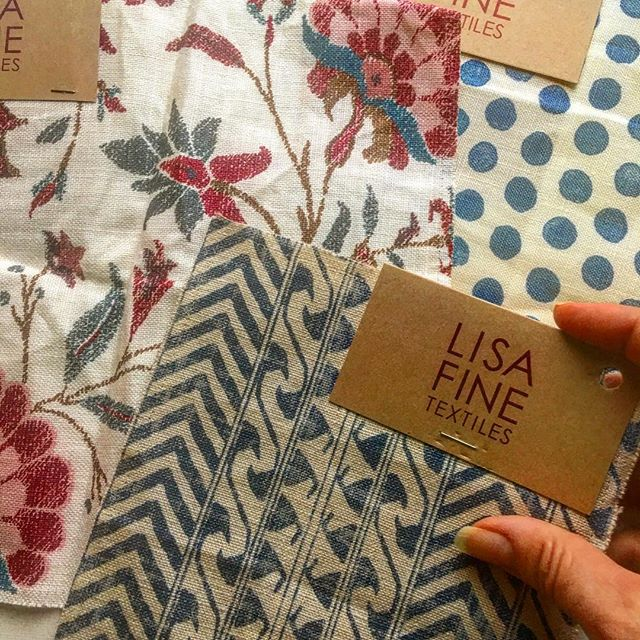 NEW #lisafinetextiles in The Lab today🙌 One of these beauties will become a duvet cover for a special client!