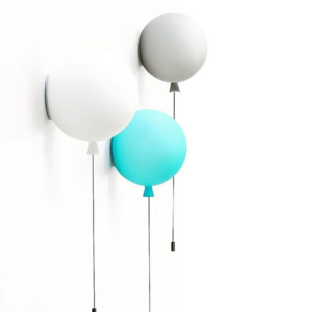 These brilliant balloons are actually wall lights and they would look super fun in your kid's room 🤗🎈#brokislighting