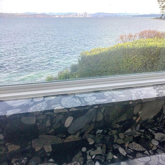 Black Marinance granite was selected for the kitchen in our client's waterfront home...at low tide it's hard to tell where the stone ends and the beach begins. A #pnw version of an infinity pool 🤗
