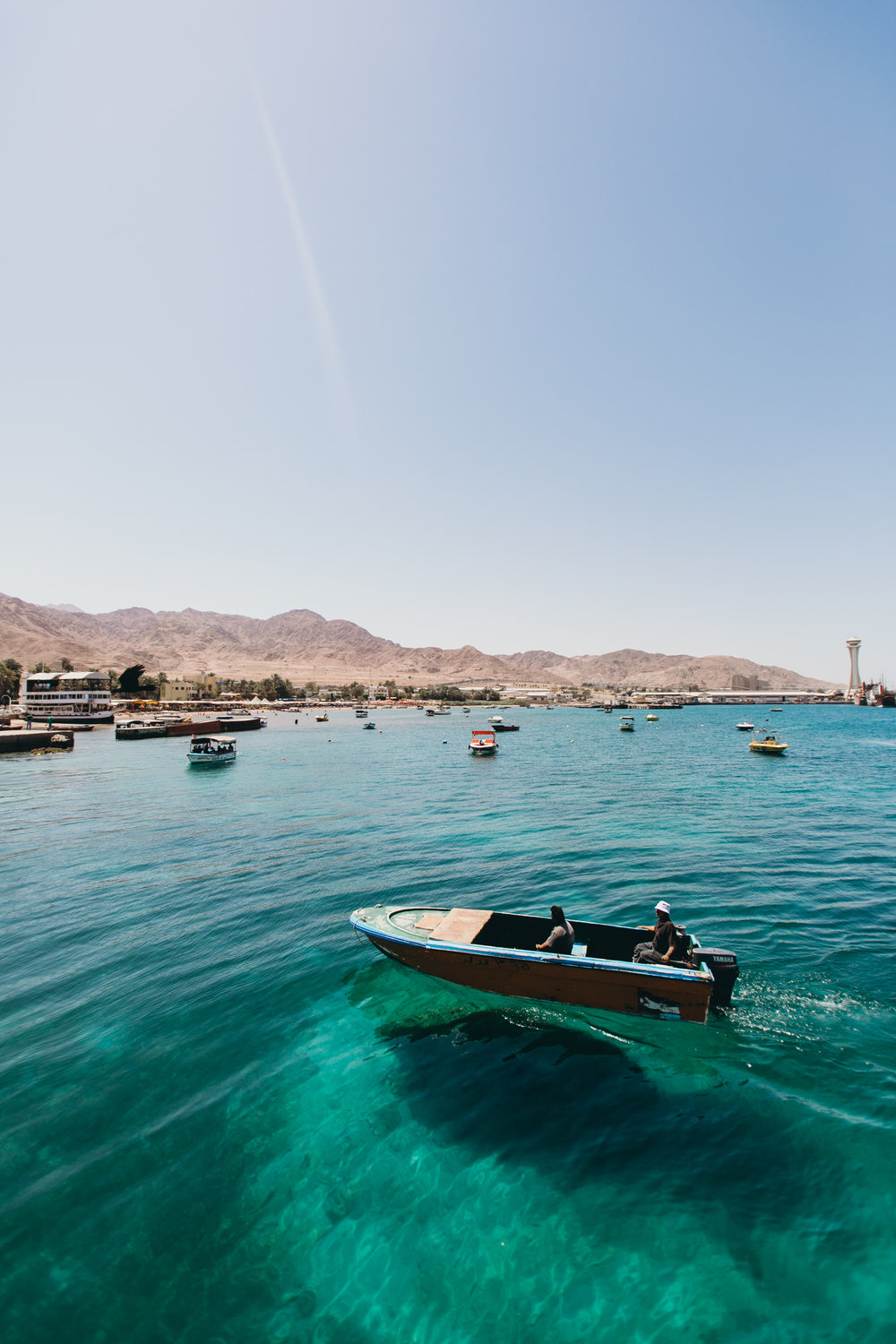 This was easily my favorite day of the whole trip!! Aqaba, you have my heart!! The water was crystal clear and the sun was hot. I loved being on the boat. We jumped from the top, ate delicious food, and snorkeled the most beautiful reef. We even saw dolphins!! It couldn't get any more magical.