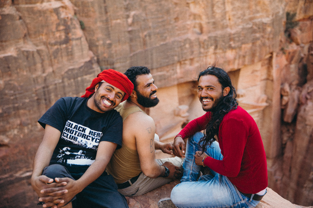 Three brothers in Petra just acting silly!