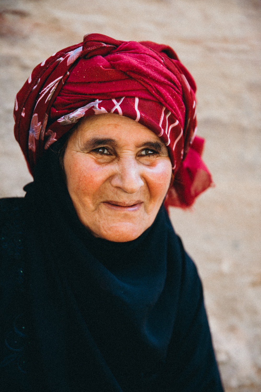 A Bedouin woman in Petra.