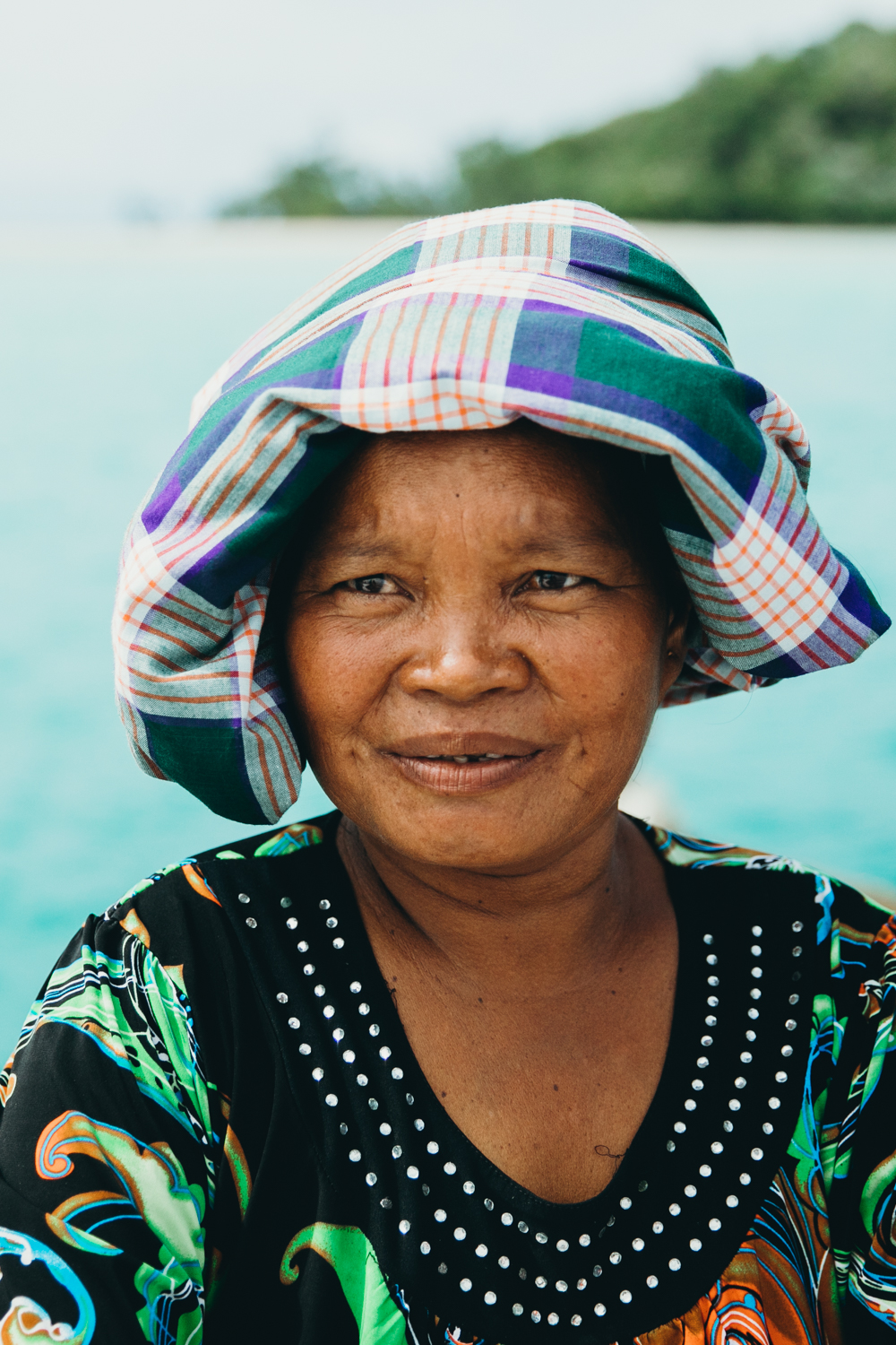 A Bajau woman in Borneo.