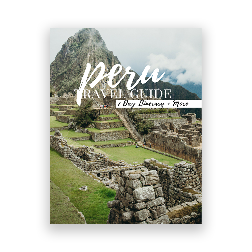Peru Travel Guide - Planning trips can be overwhelming, which is why we've done the research for you on some of our favorite places. Each guide features photo inspo, practical tips, and a 7-day itinerary to help you plan your dream trip.