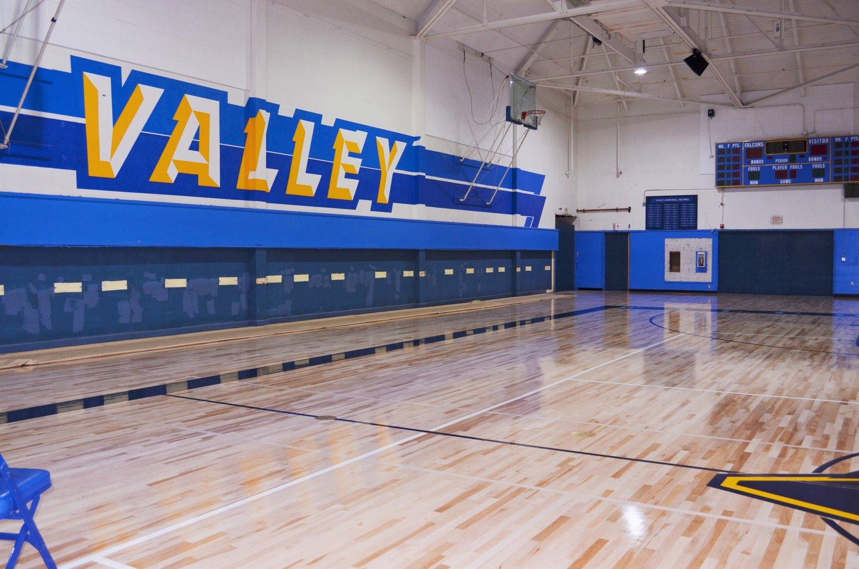 interior basketball court rebuild valley hs case study kya