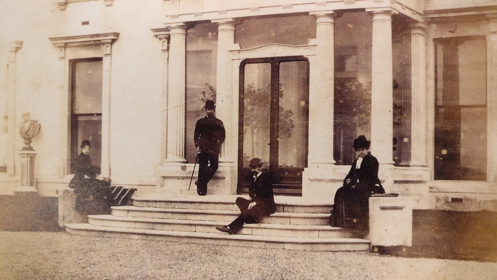 Loftus hall porch 1900 visitors.jpg