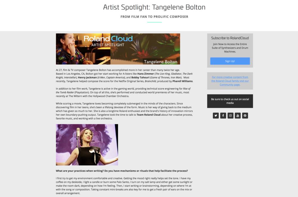 Roland Cloud - Artist Spotlight - Tangelene Bolton.png