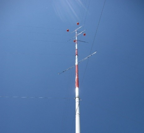 Met Tower Installation  - As part of the project's wind study, ANTARES managed the installation and data monitoring for a meterological tower installed on-site.
