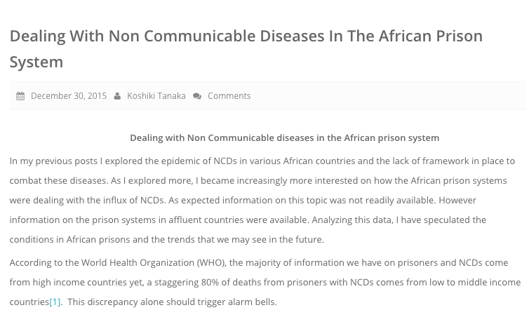 BLOG ARTICLE FROM: Engage Africa Foundation    FULL ARTICLE  HERE